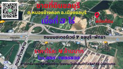 ที่ดิน 4000000 ชลบุรี เมืองชลบุรี หนองข้างคอก